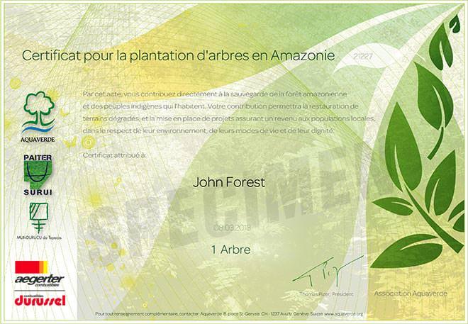 Certificat A4